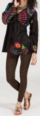 Superbe tunique ethnique et colorée - manches longues - Rachele 271924