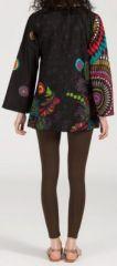 Superbe tunique ethnique et colorée - manches longues - Rachele 271925