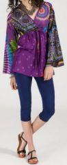 Superbe tunique ethnique et colorée - manches longues - Virginia 271926