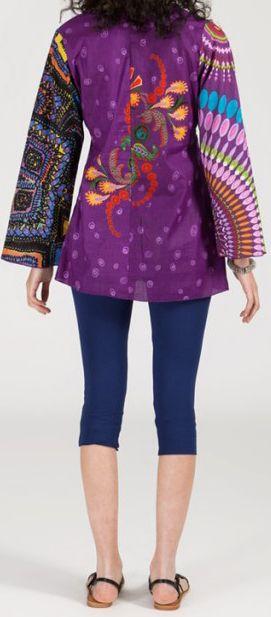 Superbe tunique ethnique et colorée - manches longues - Virginia 271927
