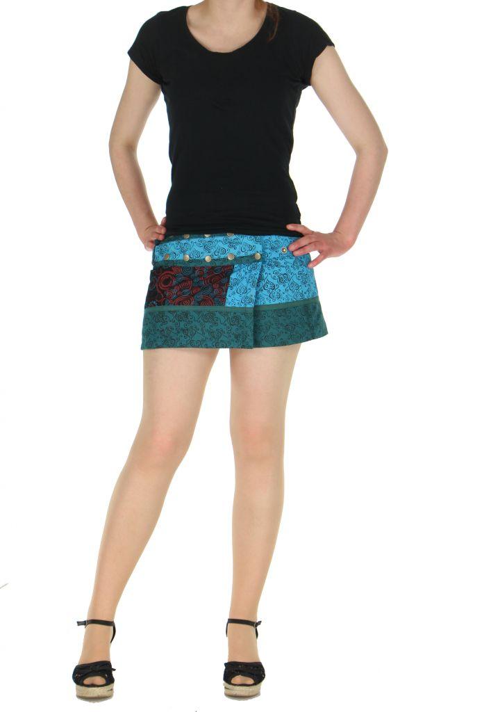 Sur-jupe ethnique monah bleue 261759