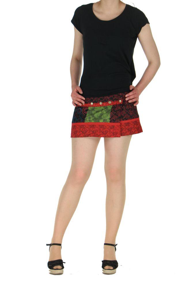 Sur-jupe ethnique monah rouge 261757