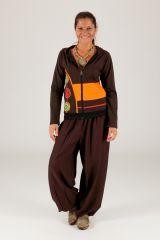 Sweat à manches longues pour femme ethnique et coloré Nafou 315236