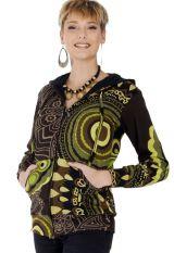 Sweat court pour Femme Imprimé aux Couleurs gaies Daksha 287705