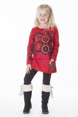 Sweat ethnique rouge pour enfant à manches longues 287496