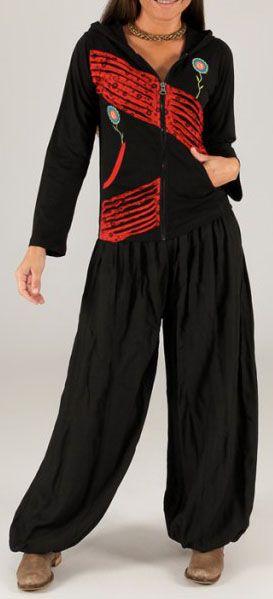 Sweat femme à capuche ethnique original et pas chèr Loic 274368