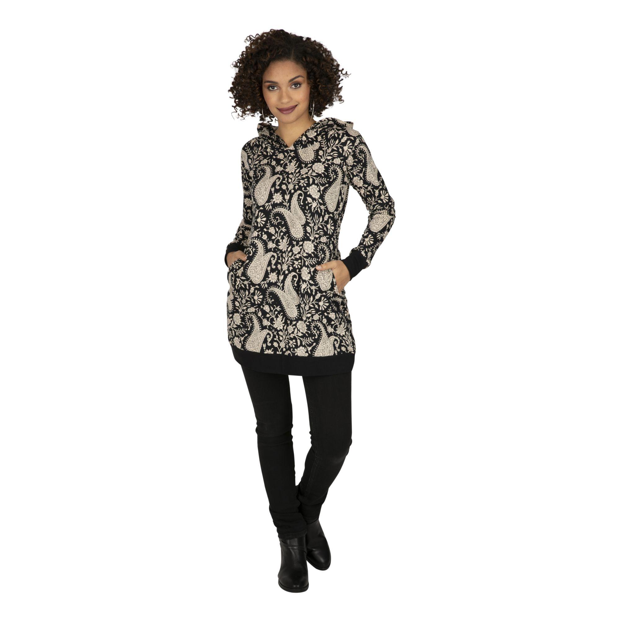 Sweat femme à la mode pas cher avec capuche Salamo