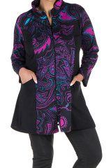 Sweat grande taille long Rose avec motifs colorés et originaux Taihma 299215