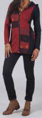 Sweat long à capuche Ethnique et Original Guerlain Rouge 274732
