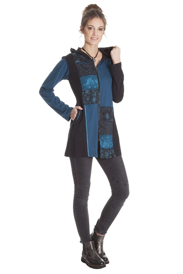 Sweat mi-long pour Femme à Tendance Patchwork Spencer 286848