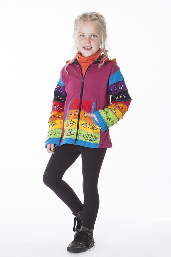 Sweat multicolore à fermeture zippée pour enfant 287473
