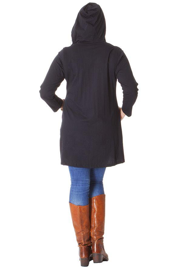 Sweat Noir pour Femme en Grande taille Original Dakota 287009