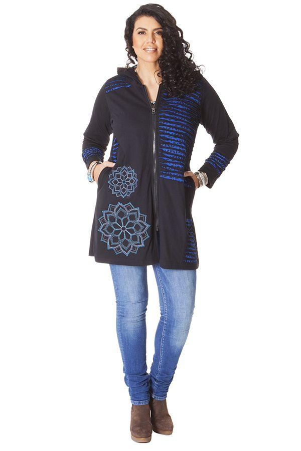 manteau grande taille original grande taille manteau denim mi long femme chic automne hiver. Black Bedroom Furniture Sets. Home Design Ideas