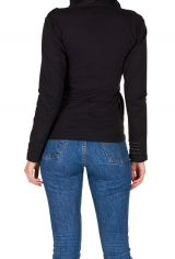 Sweat pour femme hivers Noir bimatière original Lila 298488