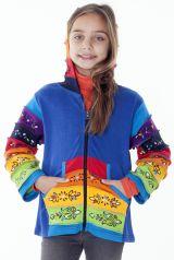 Sweat pour fille look ethnique avec motifs du Népal 287476