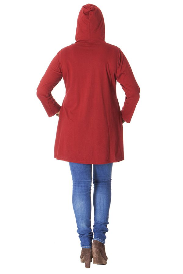 Sweat Rouge en Grande taille Ethnique et Fantaisie Bruce 287003