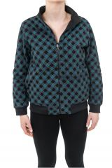 Sweat veste reversible 2en1 soit uni ou imprimé Kacha 305499