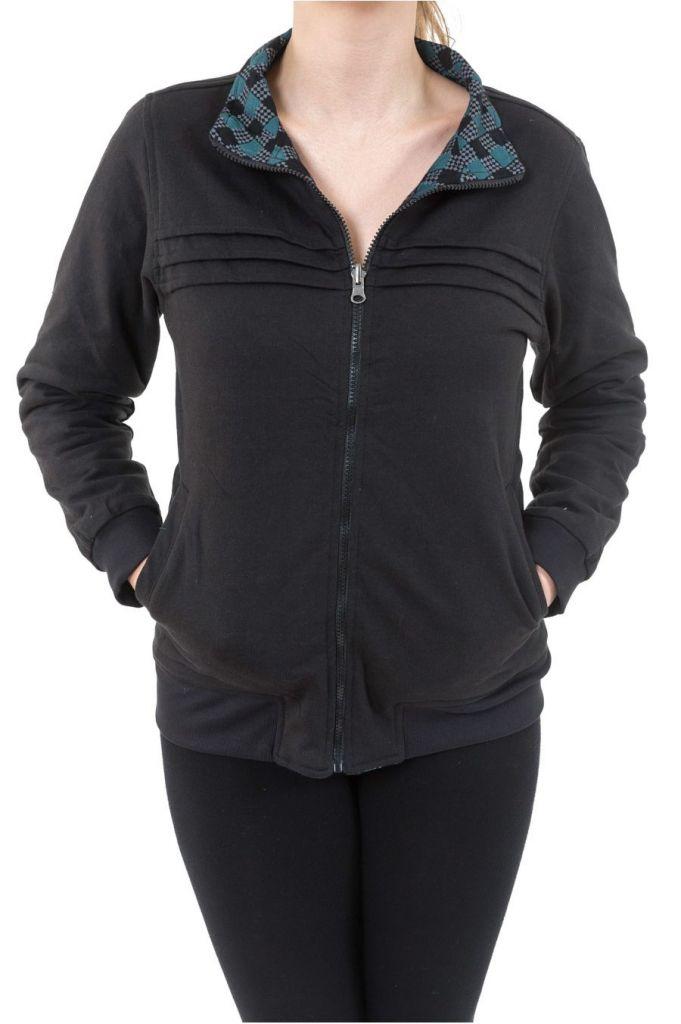 Sweat veste reversible 2en1 soit uni ou imprimé Kacha 305500