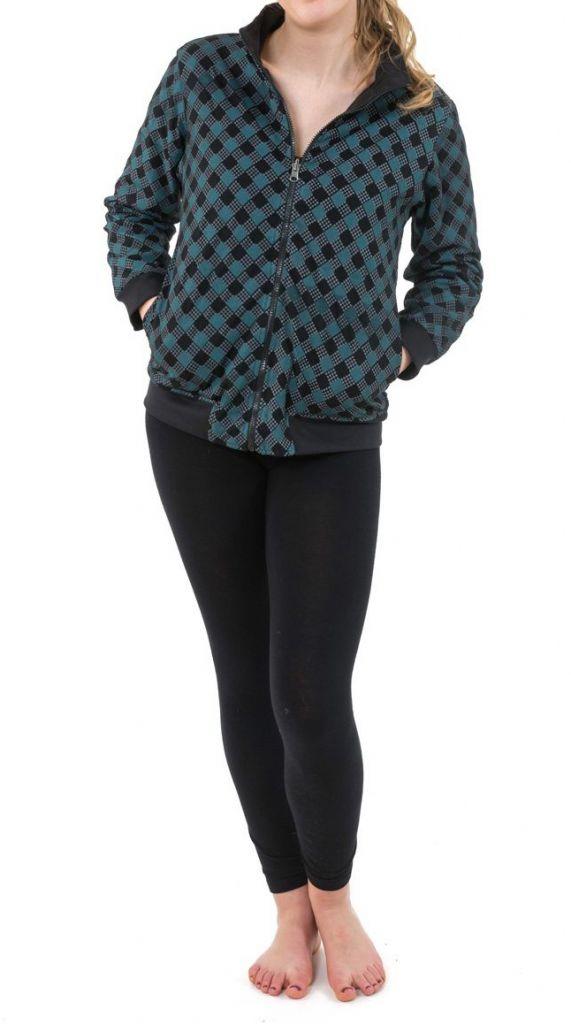 Sweat veste reversible 2en1 soit uni ou imprimé Kacha 305501