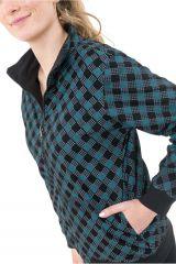 Sweat veste reversible 2en1 soit uni ou imprimé Kacha 305503