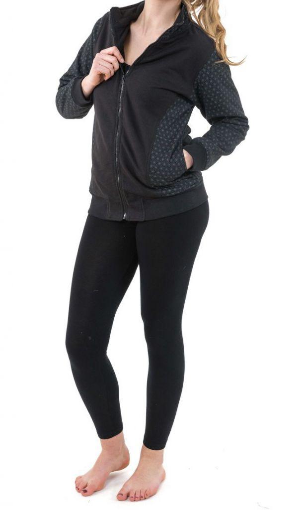 Sweat zippé veste femme en coton doublée de polaire chaude Zya 305505