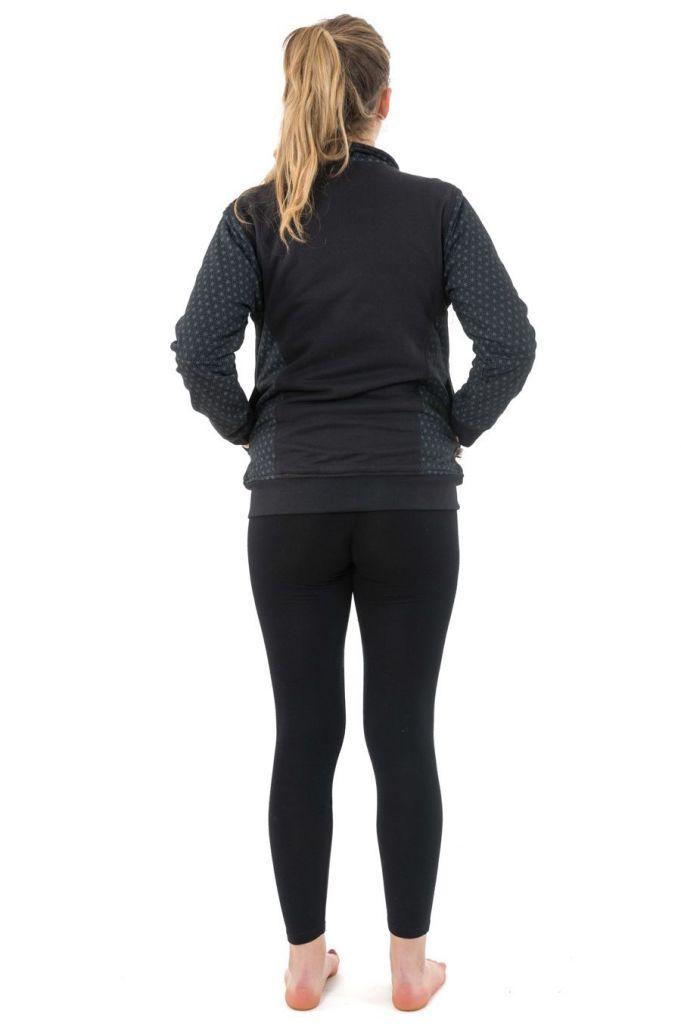 Sweat zippé veste femme en coton doublée de polaire chaude Zya 305506