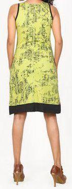 Sympathique robe courte d'été sans manches - ethnique - Anis - Flavia 272070