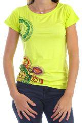 T-shirt à manches courtes avec imprimé coloré anis Moon 304409