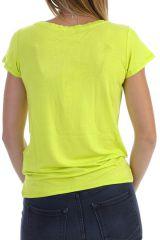 T-shirt à manches courtes avec imprimé coloré anis Moon 304411