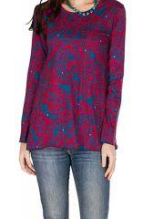 T-Shirt à manches longues Bleu et Rose imprimé et original Teva 299562