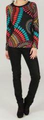 T-Shirt à manches longues imprimé et original Pacome 273975