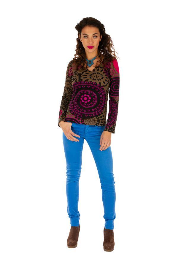 T-shirt à manches longues pour femme Mandy 312760