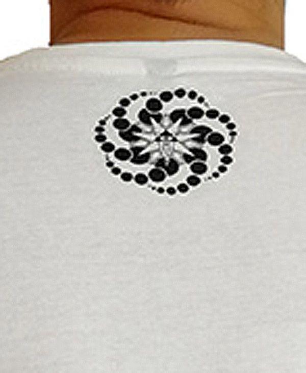 T-shirt blanc à manches courtes avec imprimé fun Marcus 297276