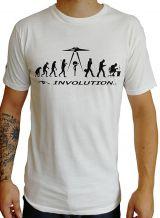 T-shirt blanc à manches courtes avec imprimé Involution Eric 297252