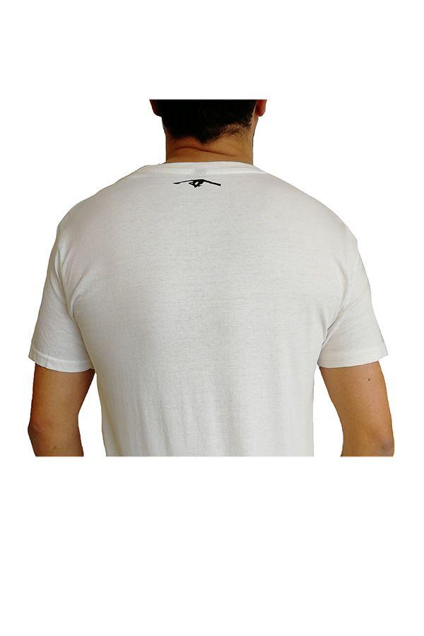 T-shirt blanc à manches courtes avec imprimé Involution Eric 297254