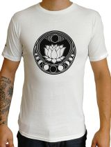 T-shirt blanc coupe droite avec logo nénuphar original Pat 297282