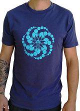 T-shirt Bleu à manches courtes avec imprimé fun Marcus 297520