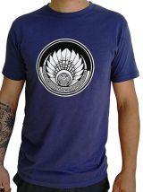 T-shirt Bleu marine en coton pour homme coupe droite et logo original maya James 297403