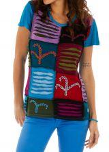 T shirt chic ethnique pas cher original et coloré Alpha 314152