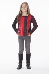 T-shirt enfant noir et rouge pour un look ethnique 287574
