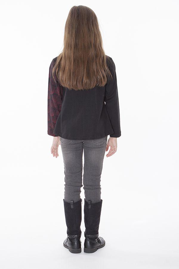T-shirt enfant noir et rouge pour un look ethnique 287575