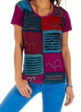 T shirt femme chic ethnique pas cher en coton original et coloré Mantra 314146