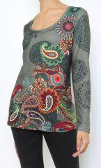 t-shirt femme original avec son imprimé coloré Yes 304198