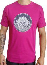 T-shirt Fuchsia en coton pour homme coupe droite et logo original maya James 297334