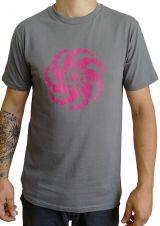 T-shirt Gris à manches courtes avec imprimé fun Marcus 297530