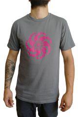 T-shirt Gris à manches courtes avec imprimé fun Marcus 297531