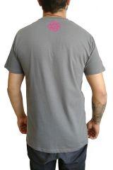 T-shirt Gris à manches courtes avec imprimé fun Marcus 297533