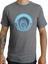 T-shirt Gris en coton pour homme coupe droite et logo original maya James 297347