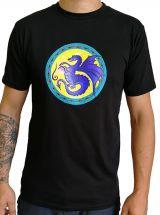 T-shirt homme en coton avec logo blue dragon noir Jessy 297240