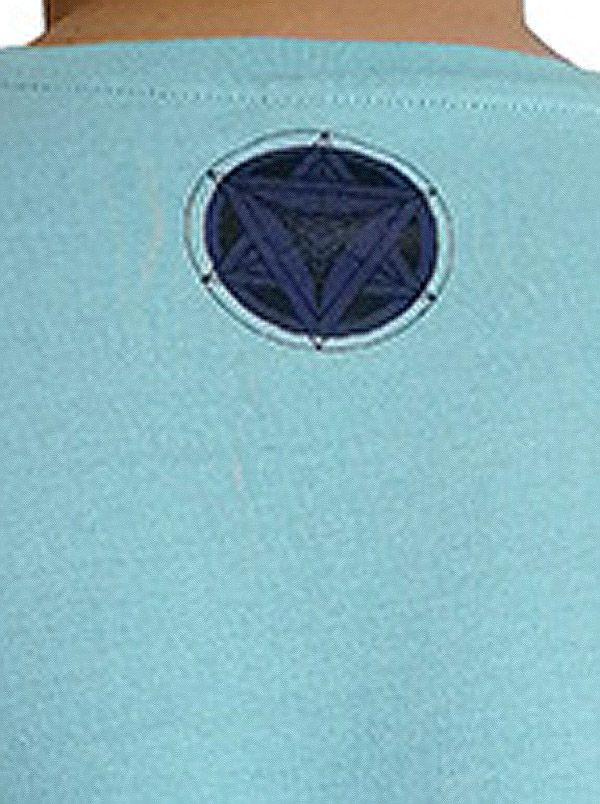 T-shirt homme en coton avec pentagramme Jake Bleu ciel 297580